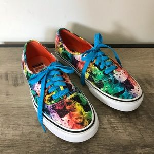 VANS Colorful KITTY CATS Rainbow SKATER SNEAKERS